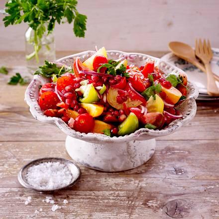 Tomatensalat mit Granatapfelkernen Rezept