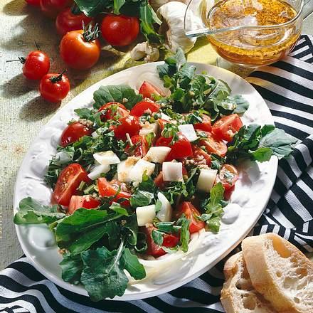 Tomatensalat mit Rauke Rezept