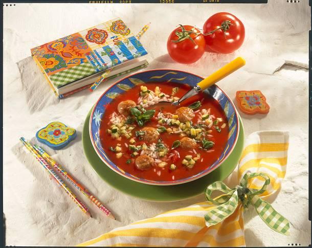 leckere tomatensuppe mit reis rezept chefkoch rezepte auf kochen backen und. Black Bedroom Furniture Sets. Home Design Ideas