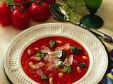 Tomatensuppe mit Bohnen und Broccoli Rezept