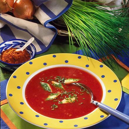 Tomatensuppe mit Eierstich Rezept
