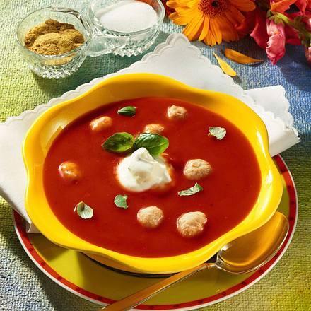 Tomatensuppe mit Fleischklößen Rezept