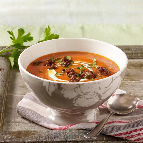 tomatensuppe mit ger stetem mett rezept chefkoch rezepte auf kochen backen und. Black Bedroom Furniture Sets. Home Design Ideas