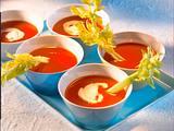 Tomatensuppe mit Gin-Sahne Rezept