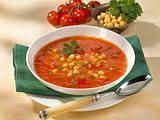 Tomatensuppe mit Kichererbsen Rezept