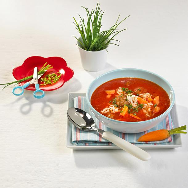 Tomatensuppe mit Klößchen Rezept