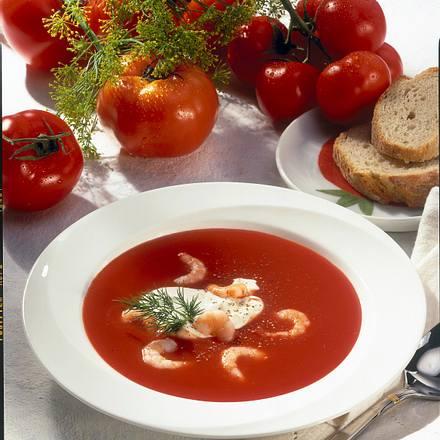 Tomatensuppe mit Krabben Rezept