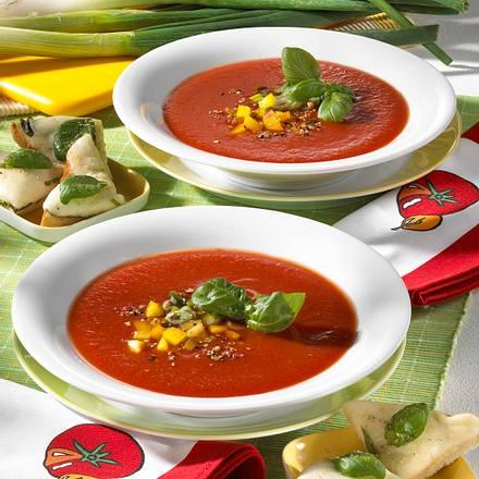Tomatensuppe mit Mozzarella-Toast Rezept