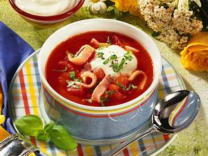 Tomatensuppe mit Schinken Rezept