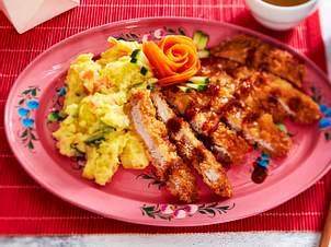 "Tonkatsu  mit Kartoffelsalat ""Big in Japan"" Rezept"