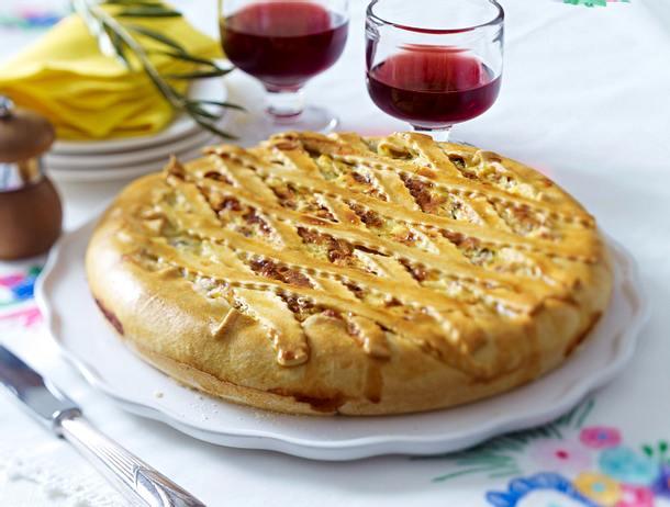 Torta rustica alla pugliese (Bauerntorte aus Apulien) Rezept