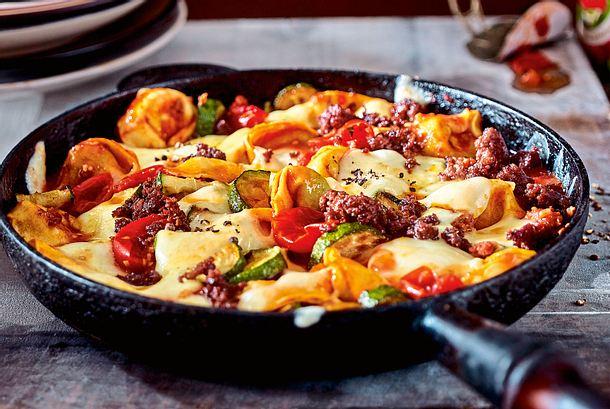 Tortellini Bolo mit Zucchini Rezept