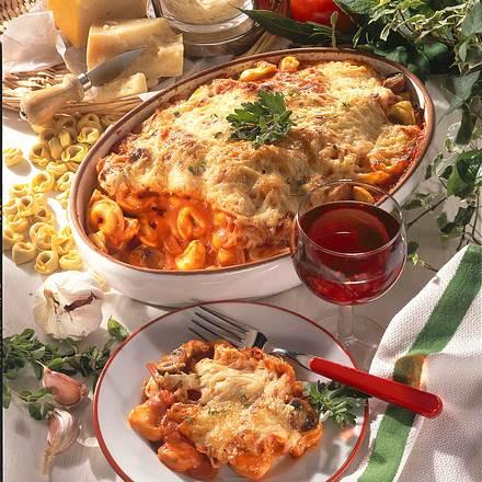 Tortellini-Champignon-Auflauf Rezept