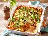 Tortellini-Gratin mit grüner Paprika und Mais Rezept