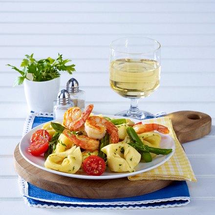 Tortellini mit Garnelen in Zitronenbutter Rezept