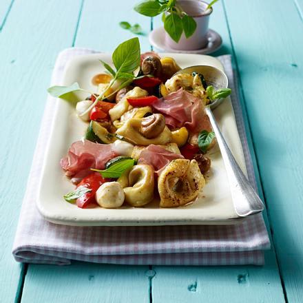 Tortelloni-Antipasti-Salatputzen, waschen Rezept