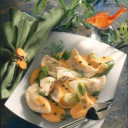Tortelloni mit Lachsfüllung Rezept