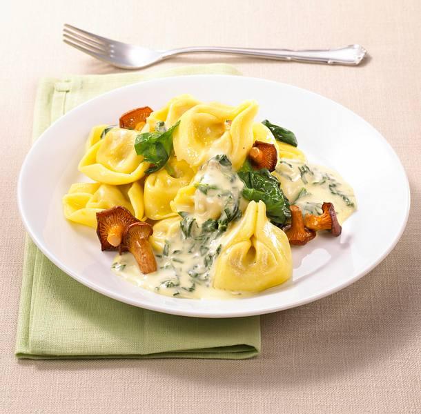 Tortelloni mit Mascarpone-Pilz-Soße Rezept