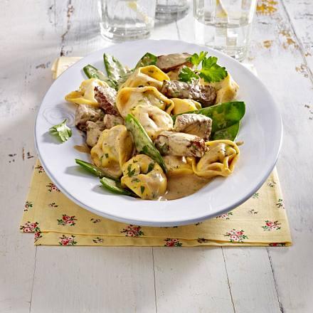 Tortelloni mit Rindfleischstreifen Rezept