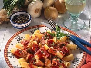Tortiglioni mit Tomaten-Puten-Sugo Rezept