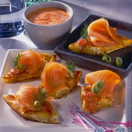 Tortilla-Happen mit Lachs Rezept