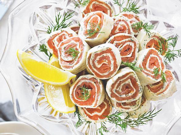 Tortilla-Lachs-Röllchen