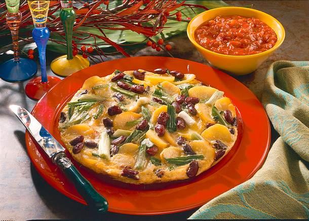 Tortilla mit Tomatensoße Rezept