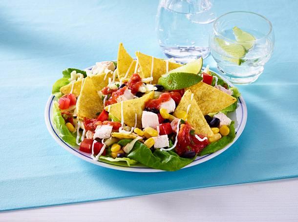 Tortilla-Salat mit Hähnchen Rezept
