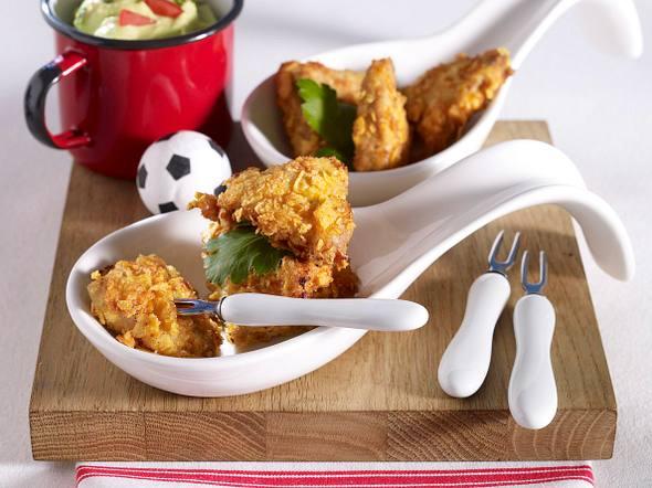 Tortilla-Schnitzel mit Avocado-Dip Rezept