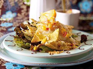 Tortillasalat mit Kaki-Chili-Salsa Rezept