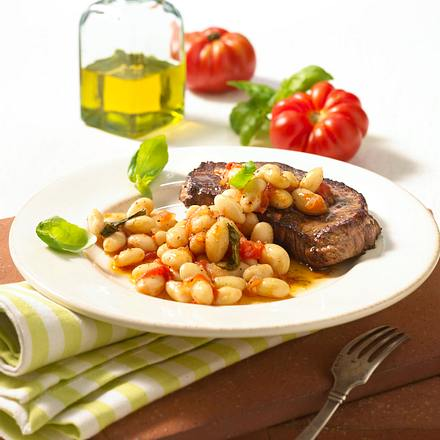 Toskanische Bohnen in Tomaten-Olivenöl Rezept
