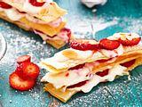 Tour Millefeuille mit Erdbeercreme Rezept