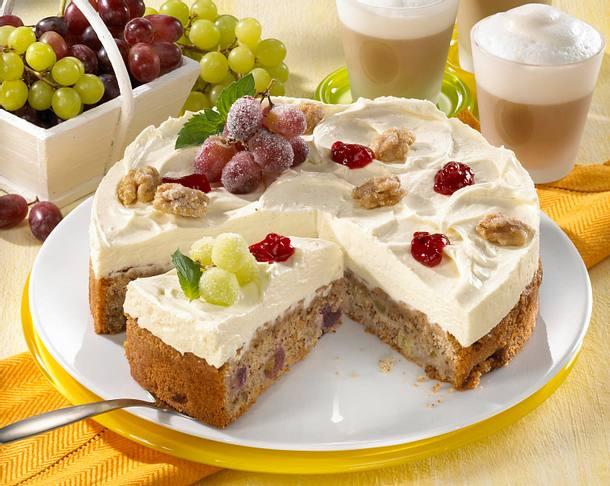 Trauben-Nuss-Torte Rezept