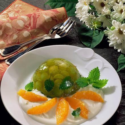 Traubengelee mit Orangensahne Rezept