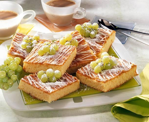 Traubenkuchen vom Blech Rezept
