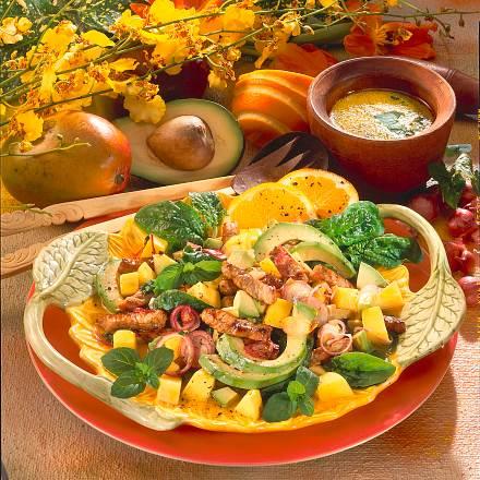 Tropischer Salat Rezept