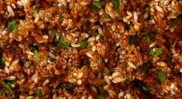 Türkisches herzhaftes Dolma (Reisfüllung) Rezept