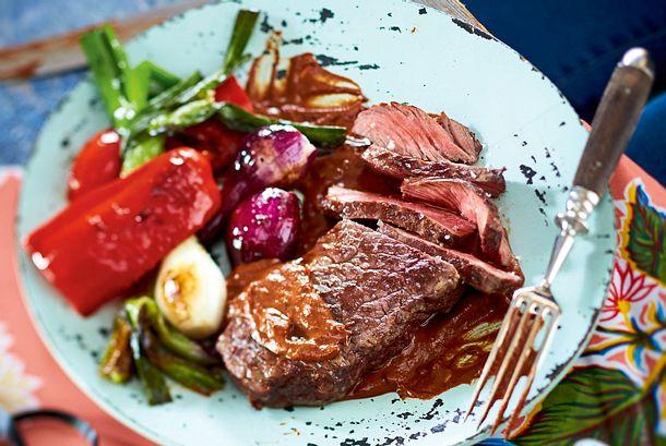 Turbo-Steaks mit Schokomole Rezept