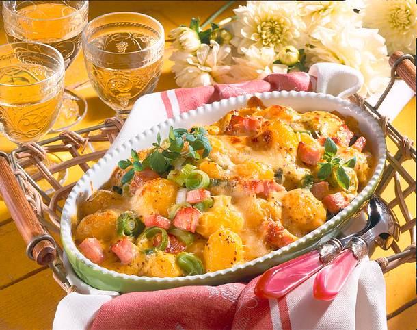 Überbackene Béchamelkartoffeln mit Kasseler Rezept
