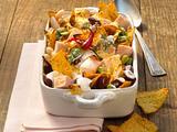 Überbackene Bohnen mit Taco-Chips Rezept
