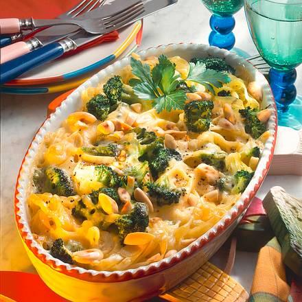 Überbackene Broccoli-Nudeln Rezept