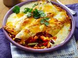 Überbackene Enchiladas mit Gemüse-Hack-Füllung Rezept