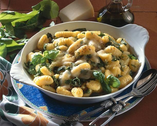 Überbackene Gnocchi mit Rauke überbacken Rezept