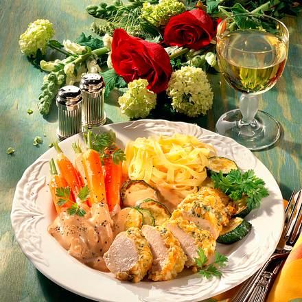 Überbackene Hähnchenfilets mit Käsekruste Rezept