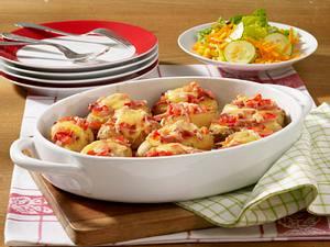 Überbackene Kartoffelhälften Rezept