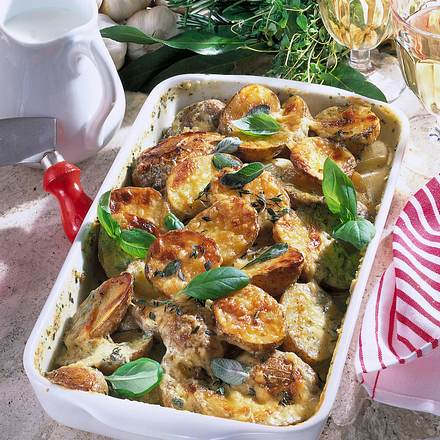 Überbackene Kräuter-Kartoffeln Rezept