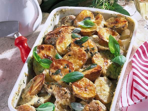Überbackene Kräuterkartoffeln Rezept