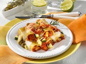 Überbackene Lasagne mediterrane Art Rezept