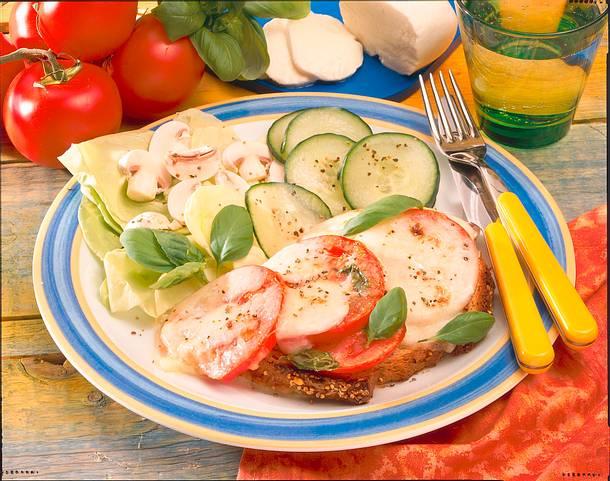 Überbackene Mozzarella-Schnitte Rezept