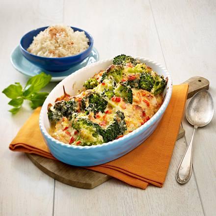 Überbackene Putenschnitzel mit Brokkoli Rezept